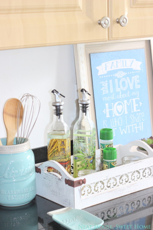Create a workstation on your kitchen counter and save some cupboard space.
