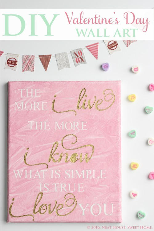 Diy Valentine 39 S Day Wall Art With Silhouette Cameo Neat