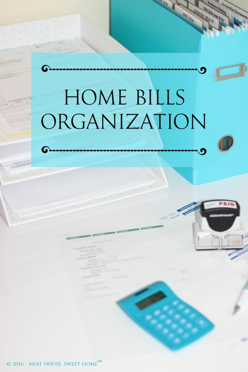 This week, dedicate some time to organize your personal bills. I will teach you how to create a home bills organization nook, to make bill pay easier.