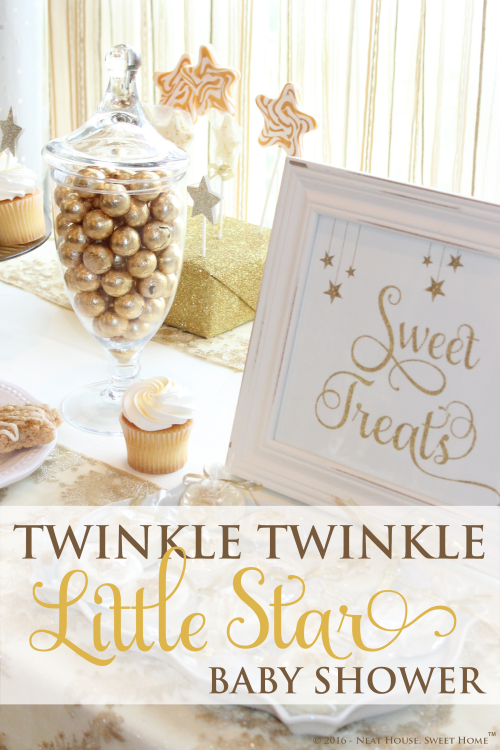 twinkle twinkle little star baby shower home organization parties