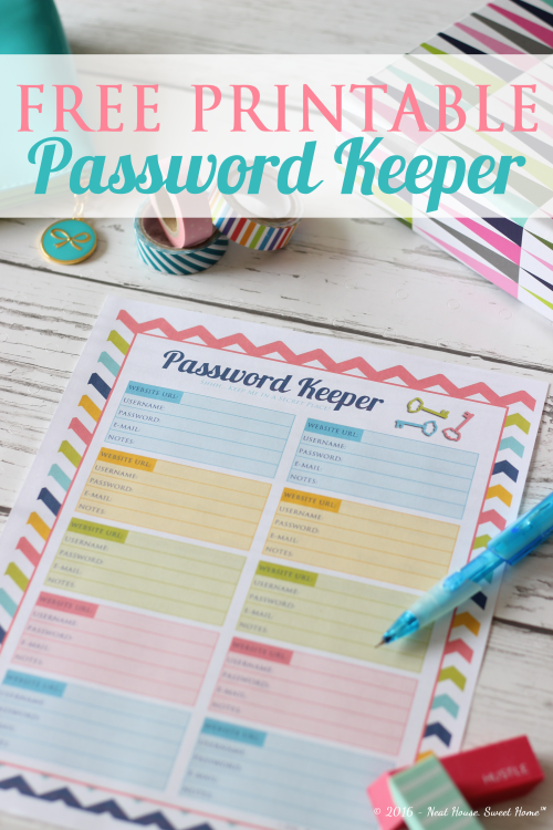 organize your online accounts with a password keeper