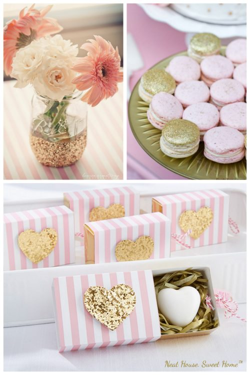 Gold and Pink Theme Bridal Shower