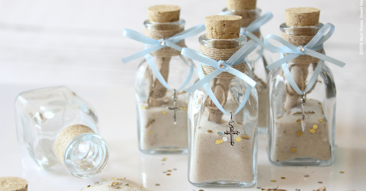 Diy Footprints In The Sand Baptism Favors Religious Keepsake