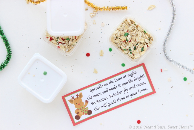 Magic reindeer food recipe and printable poem neat house sweet home these beautiful magic reindeer food favors are easy to make and the perfect takeaway for a forumfinder Gallery