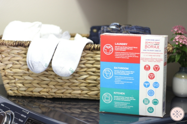 Yes, I only do laundry once a week!. Here are my 5 reasons why. Learn how Borax helps clean clothes and fabrics, naturally. #BoostWithBorax