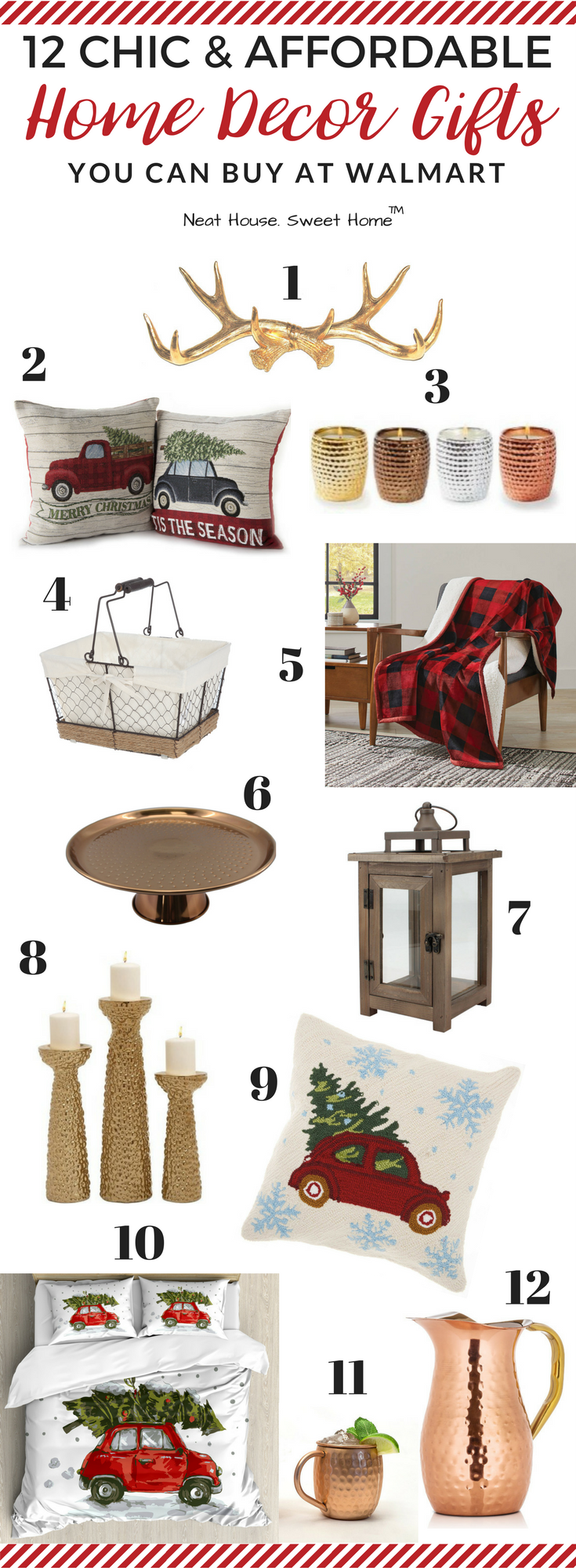 12 home decor gift ideas from walmart holiday gift guide for Affordable home accessories