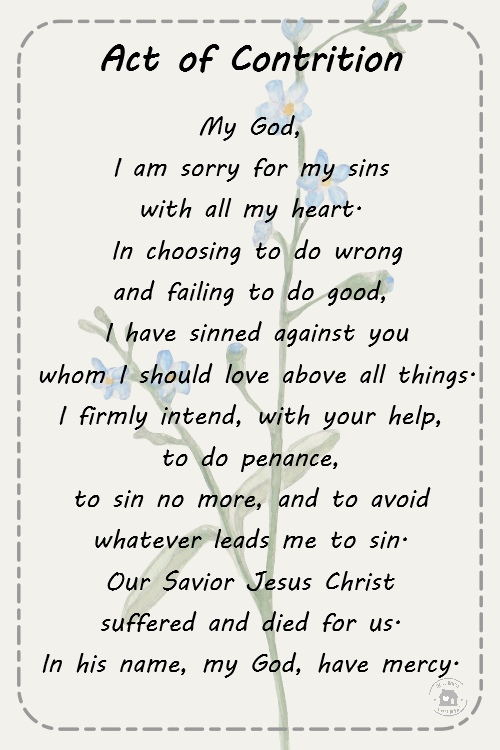 Dynamic image with regard to act of contrition printable