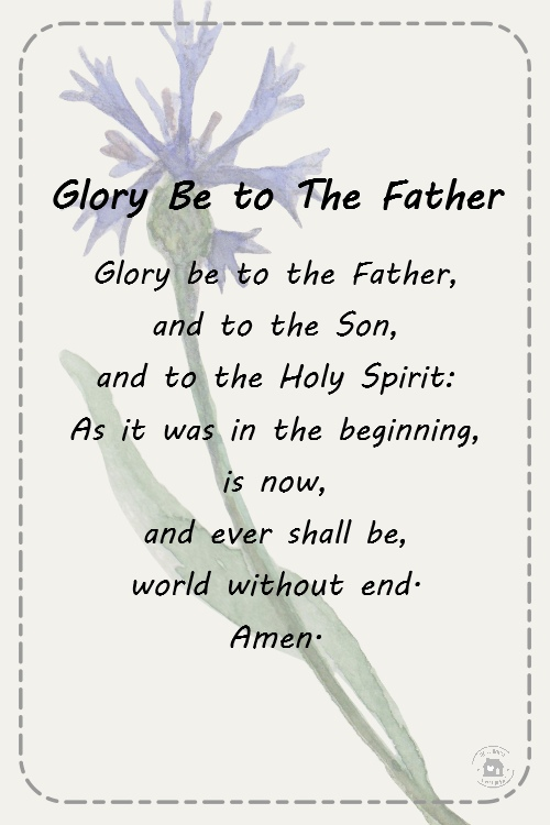 Glory Be To The Father Prayers For First Communion