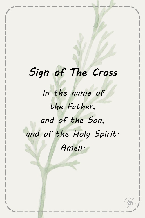 Sign Of The Cross Prayers For First Communion