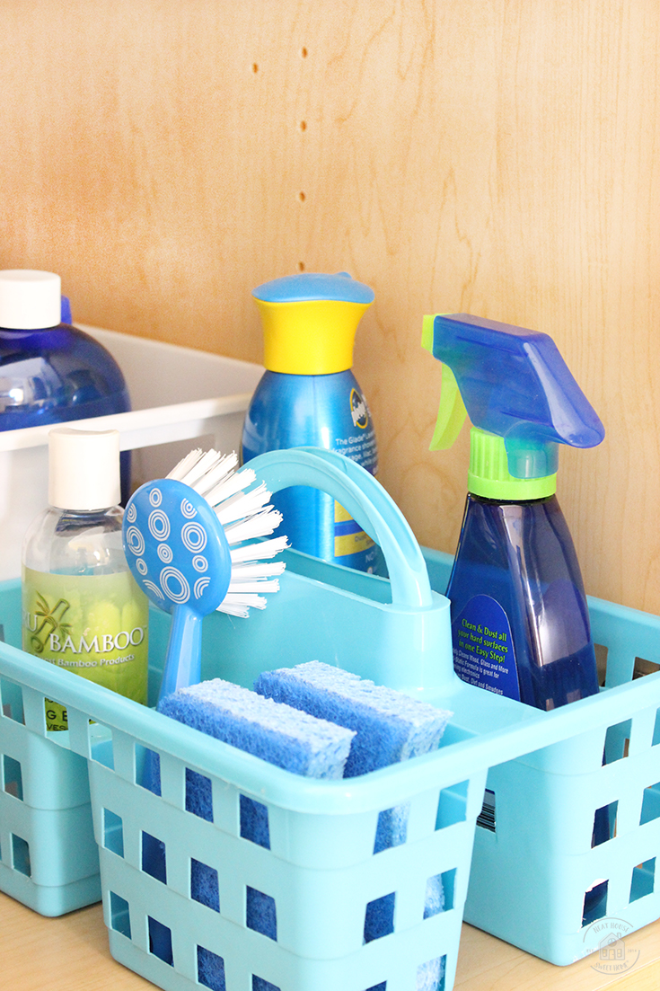 How To Organize Under The Kitchen Sink With Dollar Store Bins